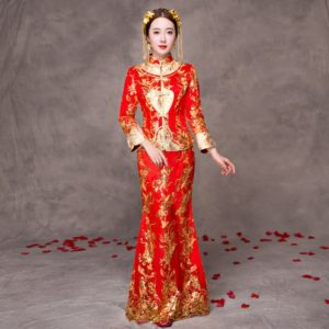 Red Traditional Dress - Chinese Wedding Traditions