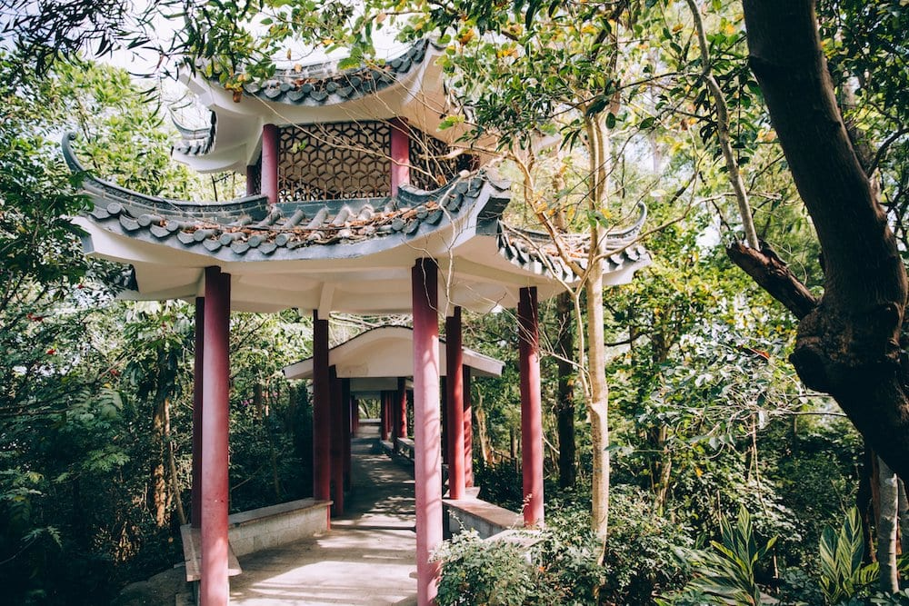 Chinese Pergola in the woods